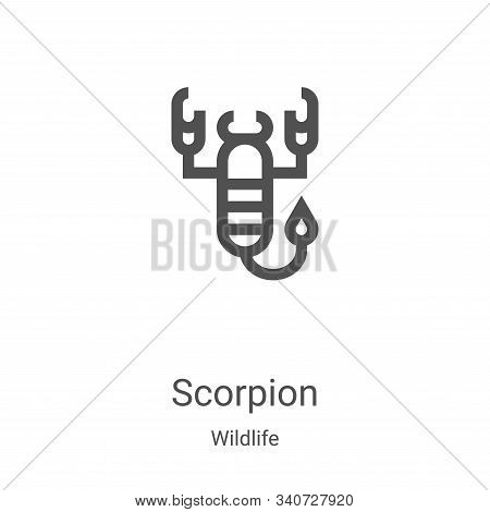 scorpion icon isolated on white background from wildlife collection. scorpion icon trendy and modern