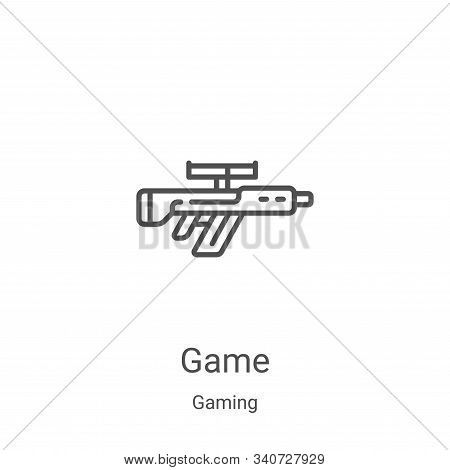 game icon isolated on white background from gaming collection. game icon trendy and modern game symb