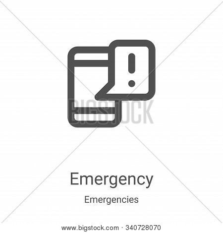 emergency icon isolated on white background from emergencies collection. emergency icon trendy and m