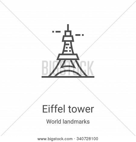 eiffel tower icon isolated on white background from world landmarks collection. eiffel tower icon tr