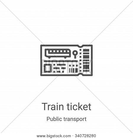 train ticket icon isolated on white background from public transport collection. train ticket icon t