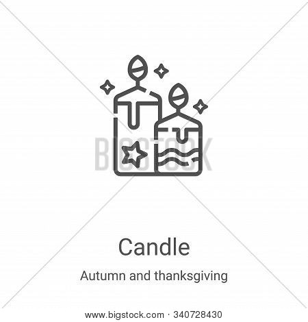 candle icon isolated on white background from autumn and thanksgiving collection. candle icon trendy