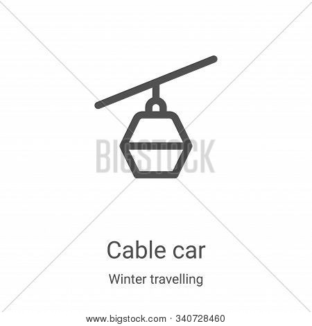cable car icon isolated on white background from winter travelling collection. cable car icon trendy
