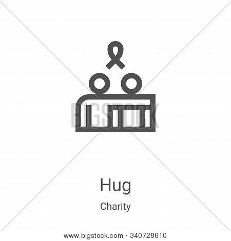 hug icon isolated on white background from charity collection. hug icon trendy and modern hug symbol