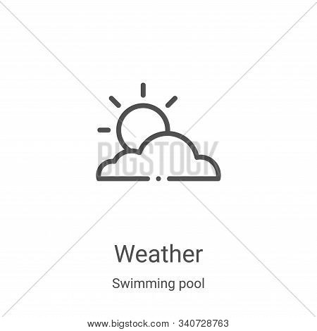 weather icon isolated on white background from swimming pool collection. weather icon trendy and mod