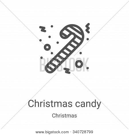christmas candy icon isolated on white background from christmas collection. christmas candy icon tr