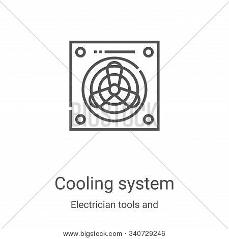 cooling system icon isolated on white background from electrician tools and elements collection. coo