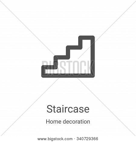 staircase icon isolated on white background from home decoration collection. staircase icon trendy a