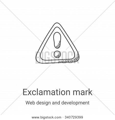 exclamation mark icon isolated on white background from web design and development collection. excla
