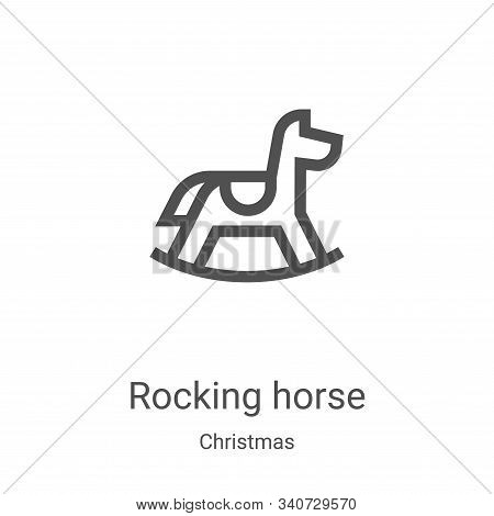 rocking horse icon isolated on white background from christmas collection. rocking horse icon trendy