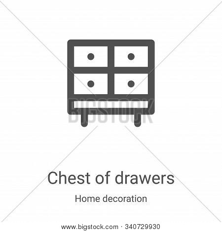 chest of drawers icon isolated on white background from home decoration collection. chest of drawers