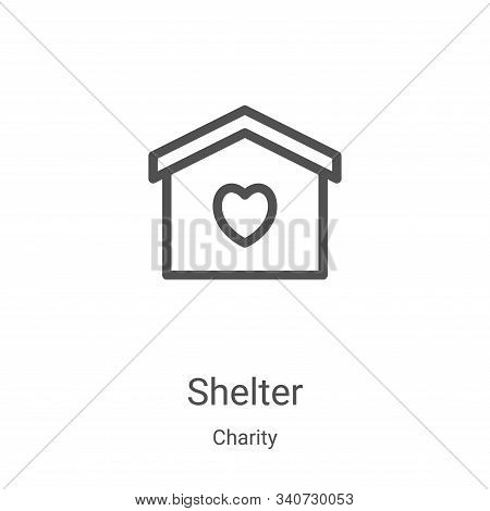 shelter icon isolated on white background from charity collection. shelter icon trendy and modern sh