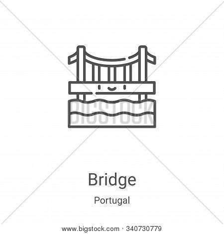 bridge icon isolated on white background from portugal collection. bridge icon trendy and modern bri