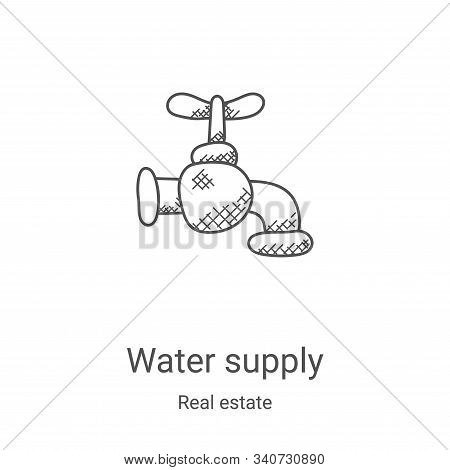 water supply icon isolated on white background from real estate collection. water supply icon trendy