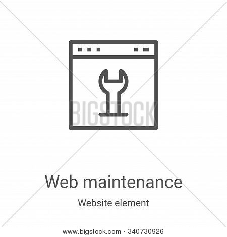 web maintenance icon isolated on white background from website element collection. web maintenance i