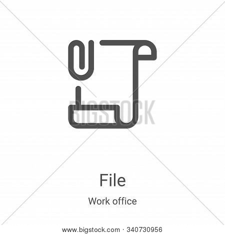 file icon isolated on white background from work office collection. file icon trendy and modern file