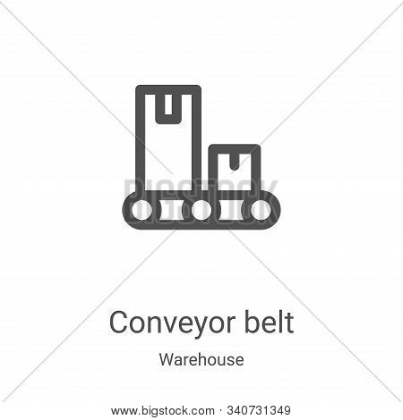 conveyor belt icon isolated on white background from warehouse collection. conveyor belt icon trendy