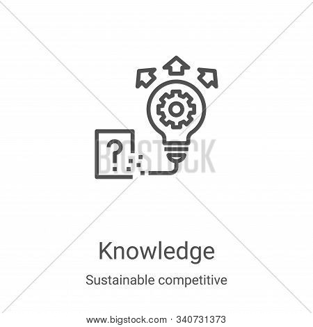knowledge icon isolated on white background from sustainable competitive advantage collection. knowl