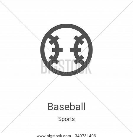 baseball icon isolated on white background from sports collection. baseball icon trendy and modern b