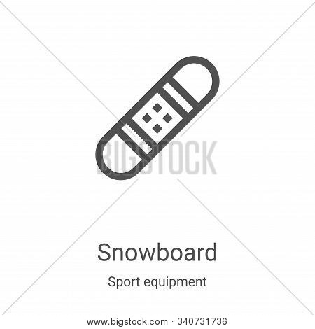 snowboard icon isolated on white background from sport equipment collection. snowboard icon trendy a