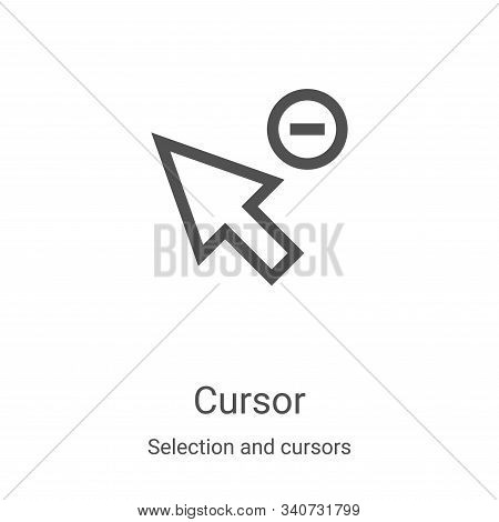 cursor icon isolated on white background from selection and cursors collection. cursor icon trendy a