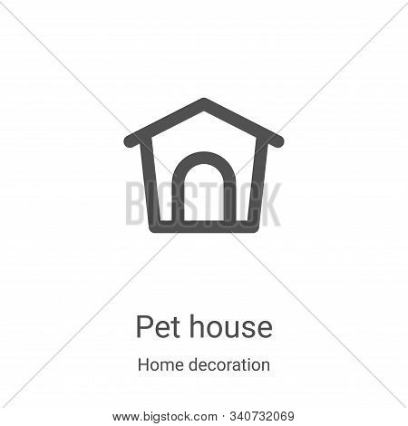 pet house icon isolated on white background from home decoration collection. pet house icon trendy a