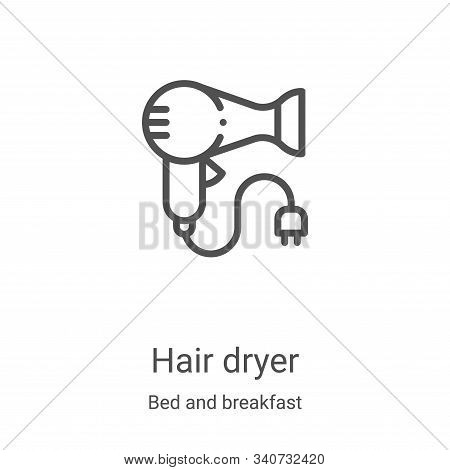 hair dryer icon isolated on white background from bed and breakfast collection. hair dryer icon tren