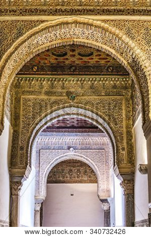 Sevilla / Spain - December 09 2019: The Alcazar, Alcazar, Royal Palace, Seville, Spain