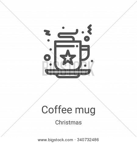 coffee mug icon isolated on white background from christmas collection. coffee mug icon trendy and m