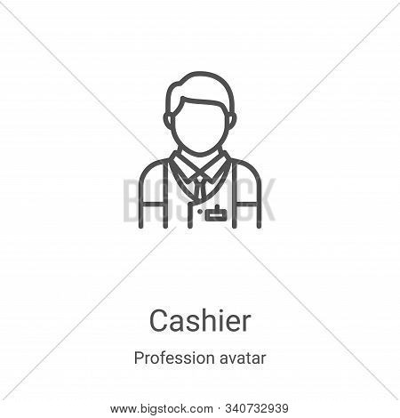 cashier icon isolated on white background from profession avatar collection. cashier icon trendy and