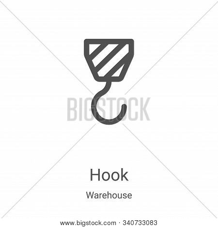hook icon isolated on white background from warehouse collection. hook icon trendy and modern hook s