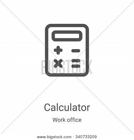 calculator icon isolated on white background from work office collection. calculator icon trendy and