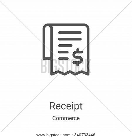 receipt icon isolated on white background from commerce collection. receipt icon trendy and modern r