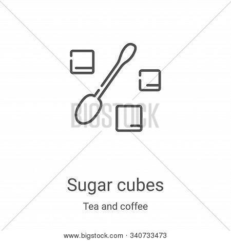 sugar cubes icon isolated on white background from tea and coffee collection. sugar cubes icon trend