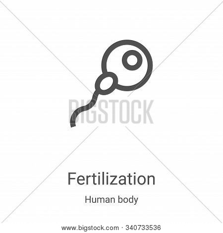 fertilization icon isolated on white background from human body collection. fertilization icon trend