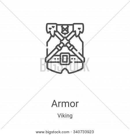 armor icon isolated on white background from viking collection. armor icon trendy and modern armor s