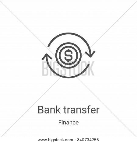 bank transfer icon isolated on white background from finance collection. bank transfer icon trendy a