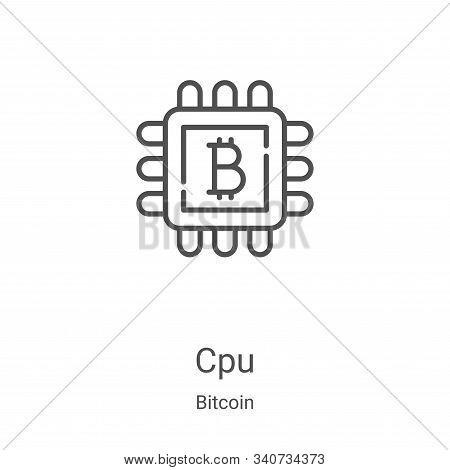 cpu icon isolated on white background from bitcoin collection. cpu icon trendy and modern cpu symbol