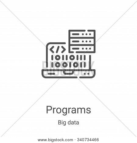 programs icon isolated on white background from big data collection. programs icon trendy and modern