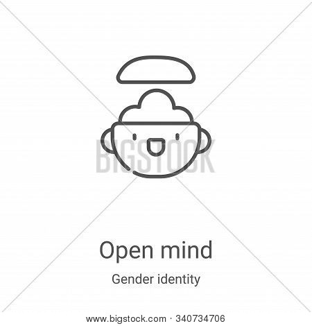 open mind icon isolated on white background from gender identity collection. open mind icon trendy a