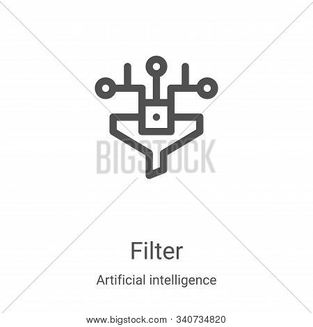 filter icon isolated on white background from artificial intelligence collection. filter icon trendy