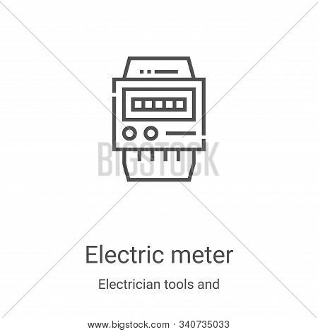 electric meter icon isolated on white background from electrician tools and elements collection. ele