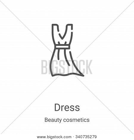 dress icon isolated on white background from beauty cosmetics collection. dress icon trendy and mode