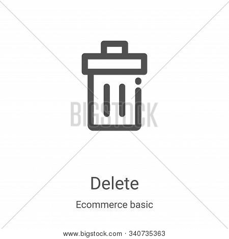 delete icon isolated on white background from ecommerce basic collection. delete icon trendy and mod