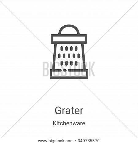 grater icon isolated on white background from kitchenware collection. grater icon trendy and modern
