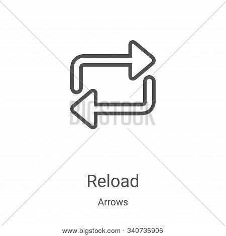 reload icon isolated on white background from arrows collection. reload icon trendy and modern reloa