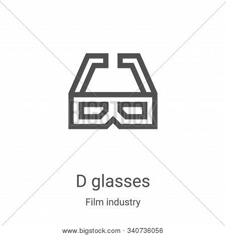d glasses icon isolated on white background from film industry collection. d glasses icon trendy and