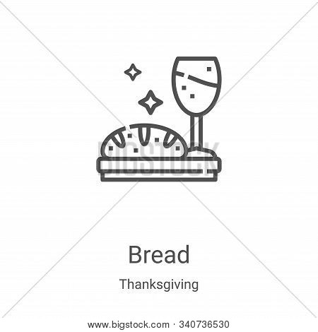 bread icon isolated on white background from thanksgiving collection. bread icon trendy and modern b