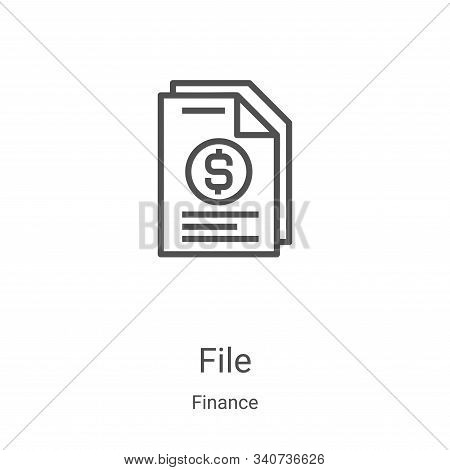 file icon isolated on white background from finance collection. file icon trendy and modern file sym