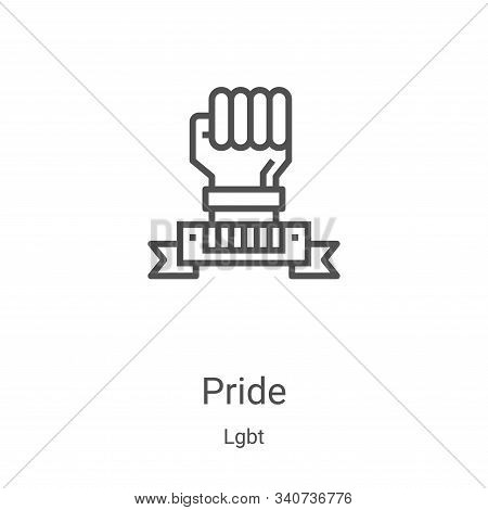pride icon isolated on white background from lgbt collection. pride icon trendy and modern pride sym